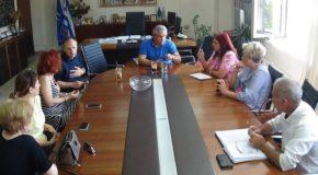 Πραγματοποιήθηκε η πρώτη συνάντηση του νέου Δ.Σ. του Λυκείου των Ελληνίδων με τον Σ. Μπίρο και τον Α. Τουρλιδάκη