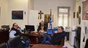 Συνάντηση του Δημάρχου Γιάννη Βοσκόπουλου με μέλη του Προεδρείου της ΕΛΜΕ Φλώρινας